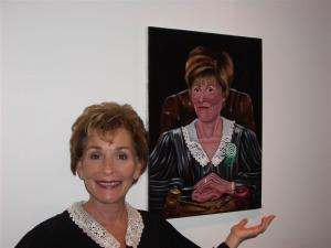Judge Judy Loved and shows appreciation for Portrait done by Susan Roberts